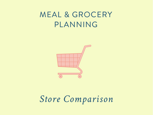 Meal & Grocery Planning: comparing grocery prices {and a free printable}