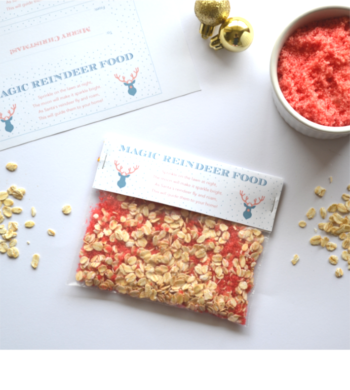 Free printable Magic Reindeer Food