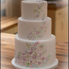 Palette Painted Wedding Cake