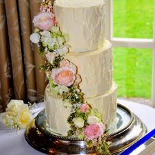 3 small tier Rustic Cake