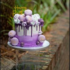 purple ombre buttercream