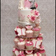 Romantic Cupcake Tower
