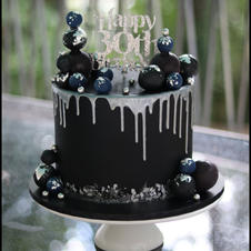 Black and Silver Drippy