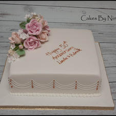 50th Anniversary floral pink
