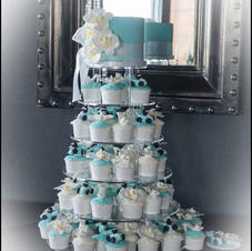 Orchid Cupcake Tower