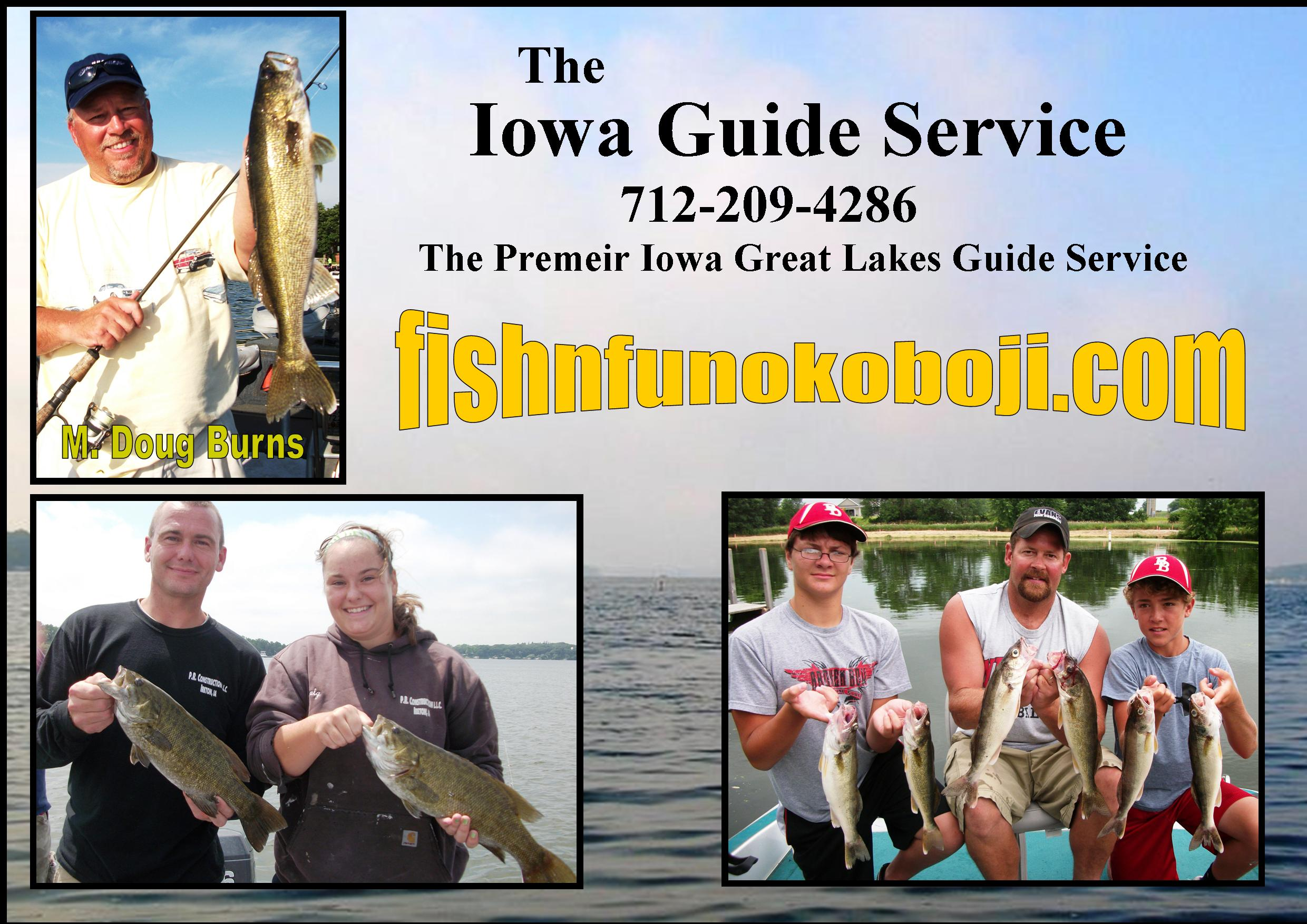 okoboji fishing guide and spirit lake fishing reports