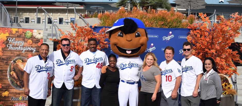 Dodgers will continue their annual Thanksgiving Turkey Giveaway November. 19