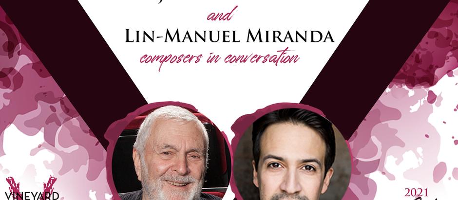 Lin Manuel Miranda and John Kander will conclude the Vineyard Theatre's Gala series