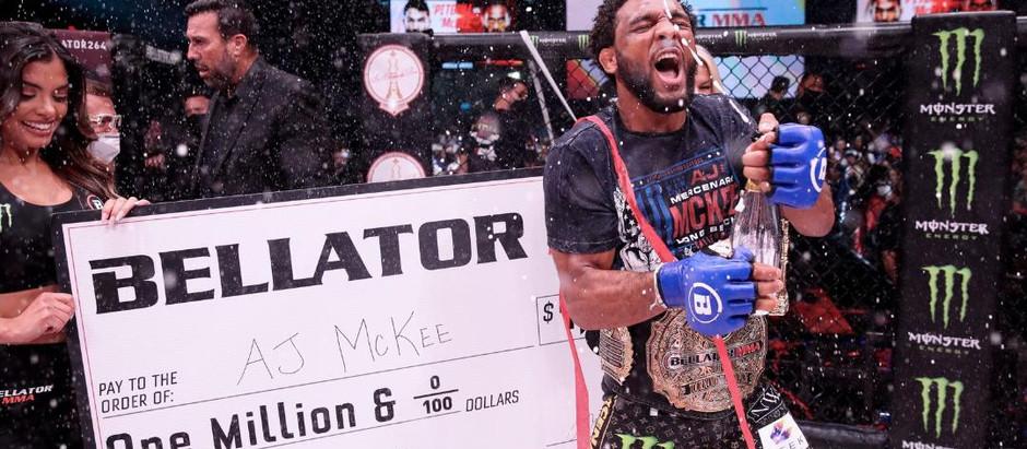 AJ McKee pops the champagne with a victory over Patricio Pitbull
