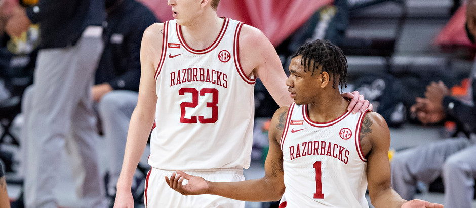 Arkansas defeats Colegate to advance to the next round 85-68