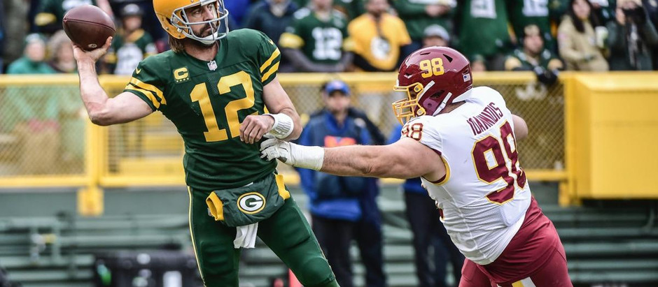 Washington drops to 2-5 after a loss to the Packers