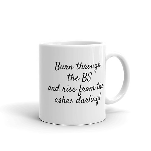 Burn through the BS mug