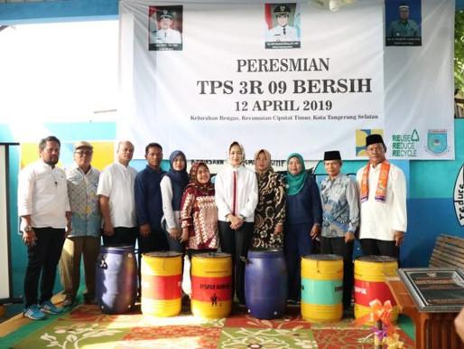 Airin Resmikan TPS3R Bersih RW 09 Kelurahan Rengas