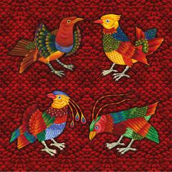 птицы-бордо