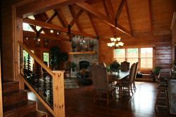 Arkansas Log Home Connection Cabin 2