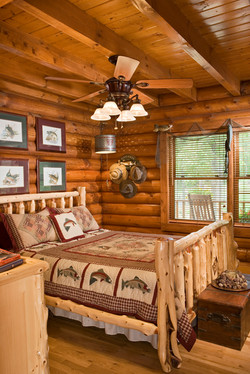 Arkansas Log Home Connection Cabin 1