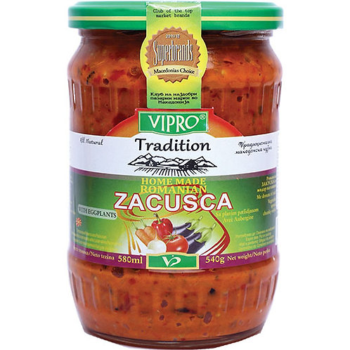 Vipro Home Made Romanian Zacusca with Eggplants 580 Gr