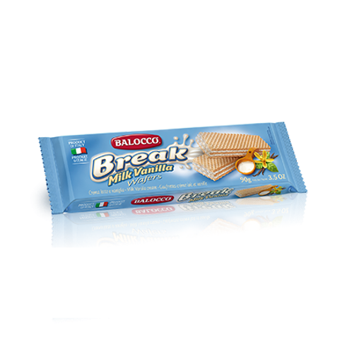 Balocco Wafers Milk Vanilla 90GR