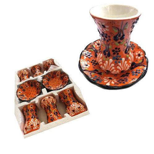 Handmade Turkish Tea Cups  - Set of 6 Tea Sets