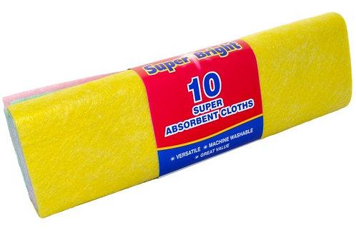 10 Super Absorbent Cloths