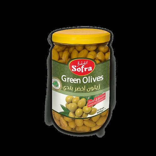 Sofra Salqini Green Olives 600G