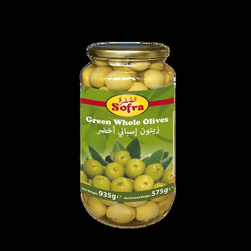 Sofra Whole Green Olives 935G