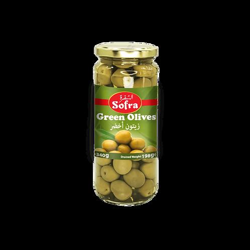 Sofra Green Olives 330G