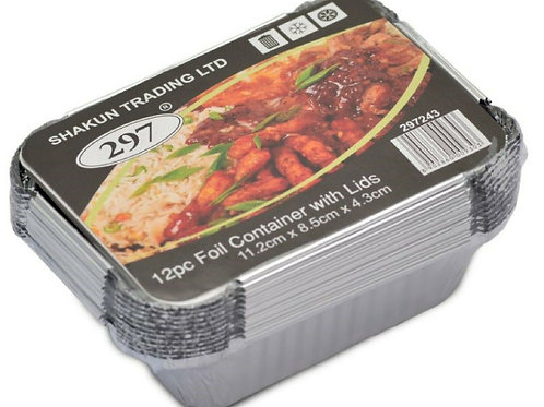 12pc Foil Container With Lids