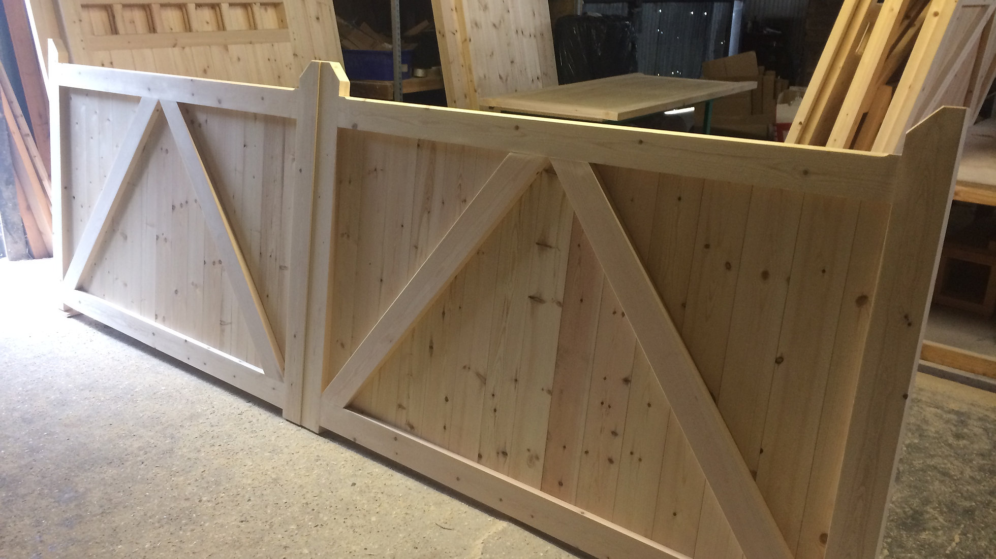 Solid Boarded Wooden Driveway Gates Near Me 3 High