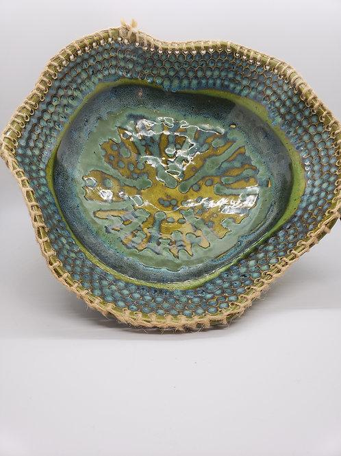 Sewn Ceramic Bowl