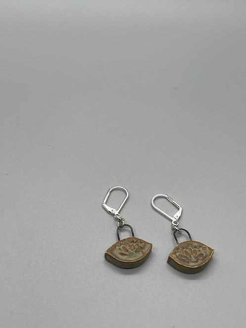 Small Lotus Drop Earrings (4 color choices)