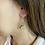 Thumbnail: Small Lotus Drop Earrings (4 color choices)