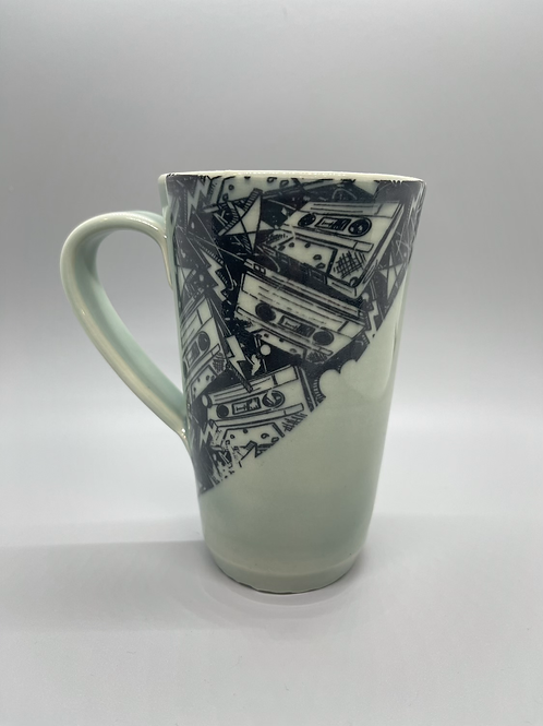 Mix Tape Coffee Mug in Aqua