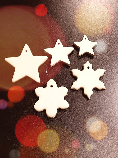 Winter Night - Ceramic Ornament Pack