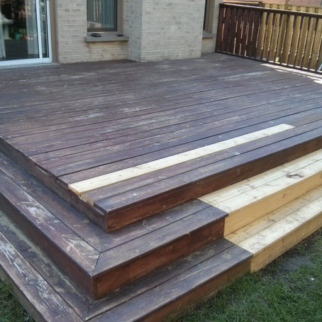 Professional Deck Staining in Pickering