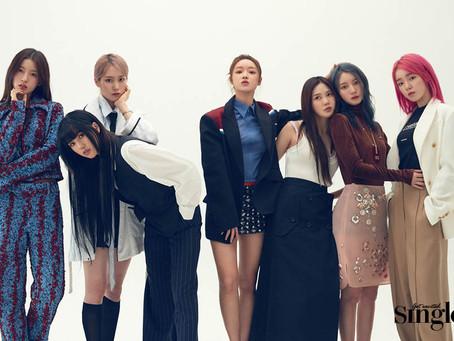 عضوات فرقة أوه ماي قيرل لمجلة SINGLES عدد شهر يونيو
