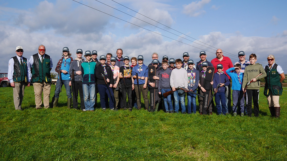 Greens Norton Scouts at Silverstone Shooting School