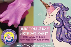 Unicorn Canvas Party with Slime!