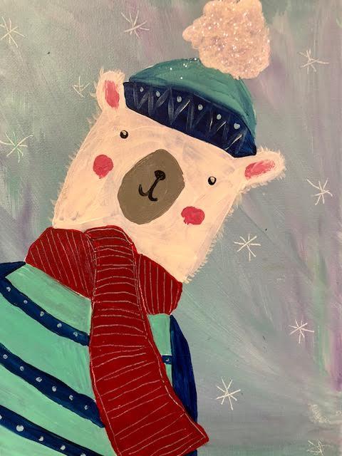Sparkly Winter Bear