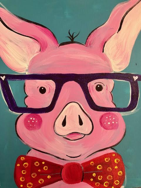 One Smart Looking Pig