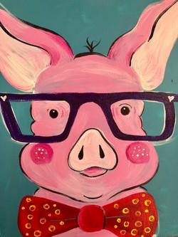 One Smart Looking Pig