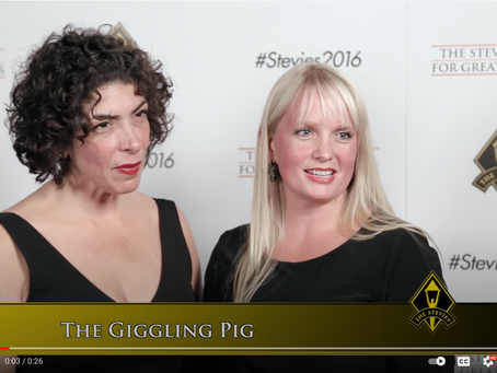 The Giggling Pig Wins Their First Stevie Award®