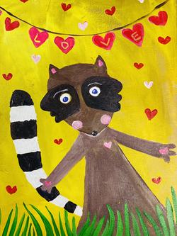 Raccoon In Love