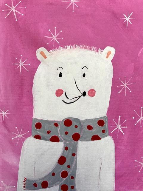 Polar Bear in Polka Dots