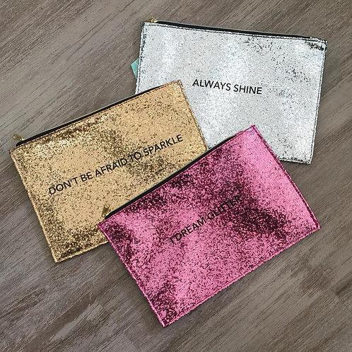 Pochette Glitter DORÉ + 10 fondants