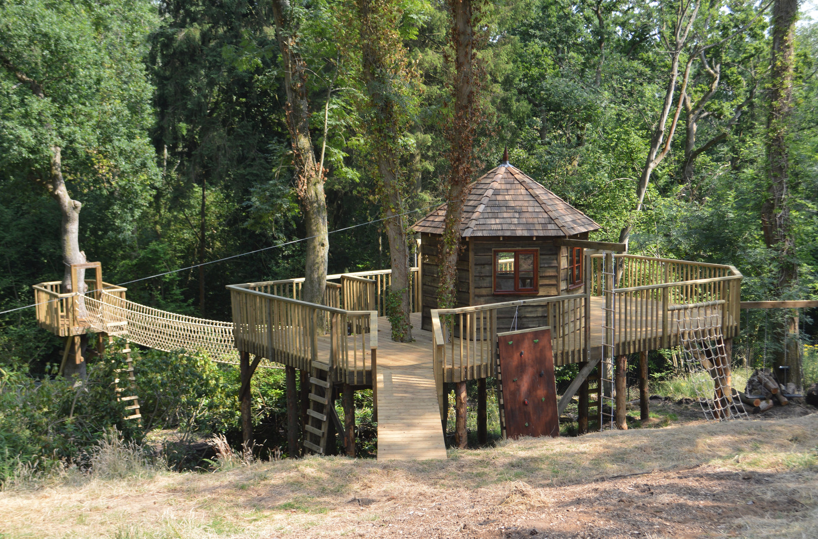 Treehouse in the wood