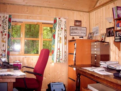Garden office interior