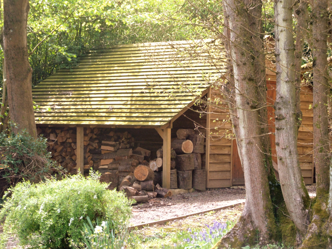 Wood and tool shed