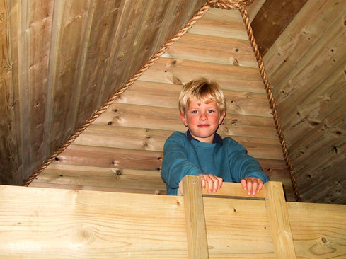 Bunk bed in the eaves