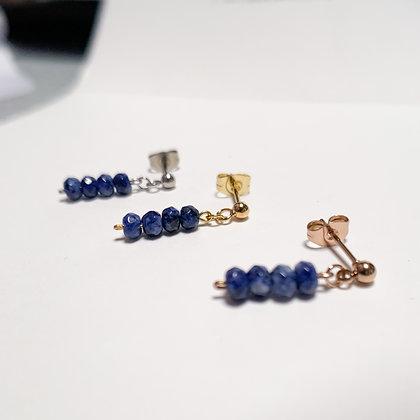 Mini Sodalite Stone Earrings